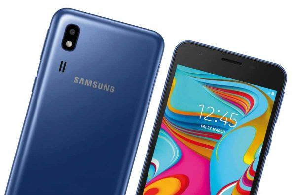 Desain Depan dan Belakang Samsung Galaxy A2 Core