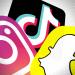 Logo Instagram TikTok Snapchat